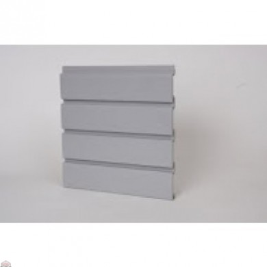 "Slat Wall 96"" W X 3/4"" D X 12"" H Section, Gray"