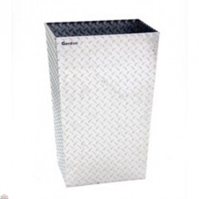 ALUMINUM TRASH BIN (LARGE / CLEAR)