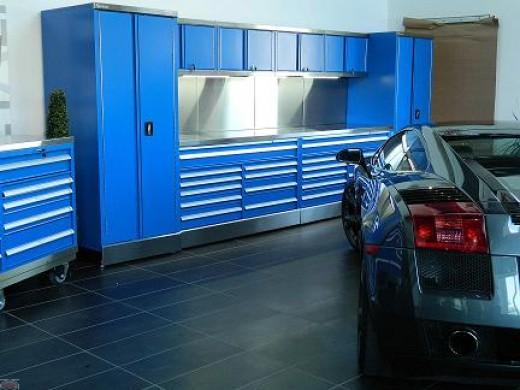 Mobile cart W/ shelves MW-1000-BK