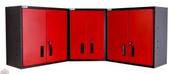 Wall Corner Storage Cabinet (Performance Red)