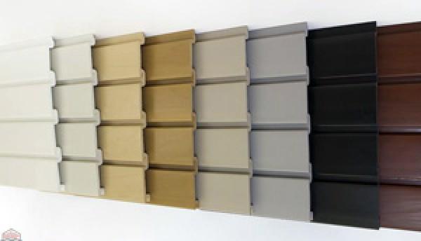 "Slat Wall 96"" W X 3/4"" D X 12"" H Section, Gray"