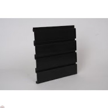 "Slat Wall 96"" W X 3/4"" D X 12"" H Section, Black"
