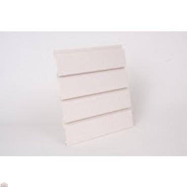 "Slat Wall 96"" W X 3/4"" D X 12"" H Section, Antique White"