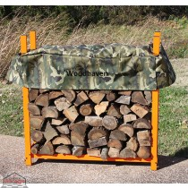 1/4 Cord Camo Woodhaven Firewood Rack 4ft x 4ft with Cover