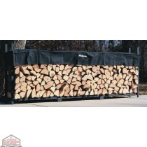 3/4 Cord Woodhaven Firewood Rack 4ft x 12ft with Cover
