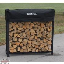 1/4 Cord Woodhaven Firewood Rack 4ft x 4ft with Cover