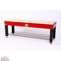 Geneva Storage Activity Bench - Black and Red