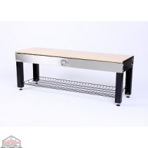 Geneva Storage Activity Bench - Stainless Steel