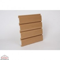 "Slat Wall 96"" W X 3/4"" D X 12"" H Section, Oak"