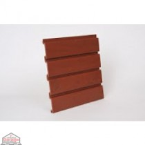 "Slat Wall 96"" W X 3/4"" D X 12"" H Section, Cherry"