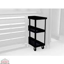 Mobile cart W/ shelves MW-1000-BK