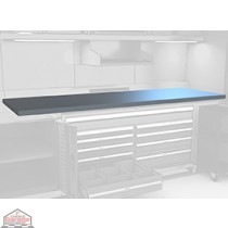 Stainless steel top filled W/ wood for superwide cabinet MH-2460-SS