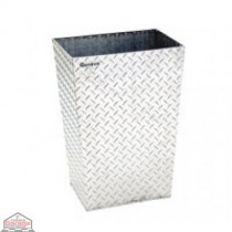 ALUMINUM TRASH BIN (MEDIUM / CLEAR)