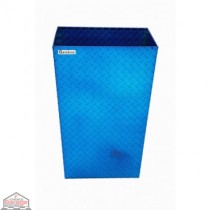 ALUMINUM TRASH BIN (LARGE / BLUE)