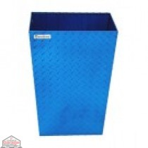 ALUMINUM TRASH BIN (MEDIUM / BLUE)