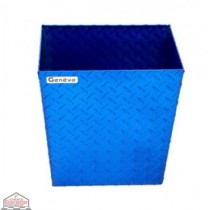 ALUMINUM TRASH BIN (SMALL / BLUE)