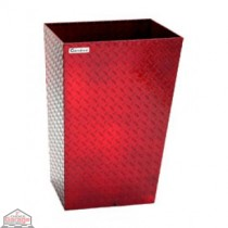 ALUMINUM TRASH BIN (LARGE / RED)