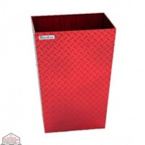 ALUMINUM TRASH BIN (MEDIUM / RED)