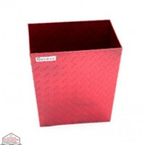 ALUMINUM TRASH BIN (SMALL / RED)