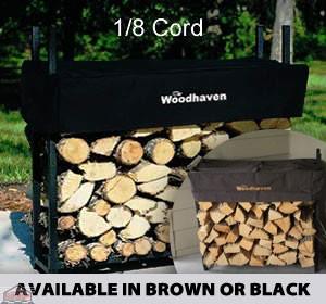 1/8 Cord Woodhaven Firewood Rack 3ft x 3ft Black