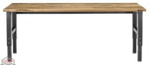 Adjustable Height 8 ft. Maple Workbench