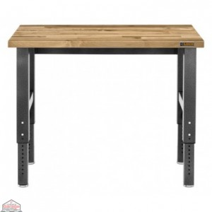 Adjustable Height 4 ft. Maple Workbench