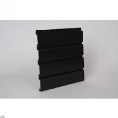 "Slat Wall 96"" W X 3/4"" D X 12"" H Section, Black"
