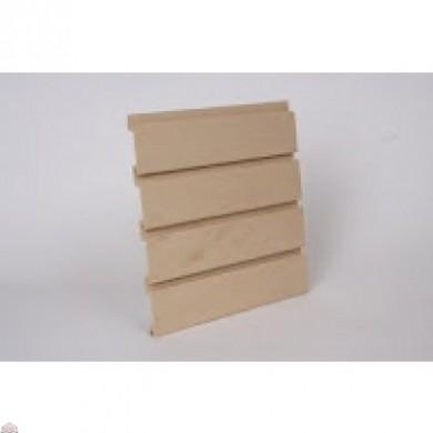 "Slat Wall 96"" W X 3/4"" D X 12"" H Section, Maple"