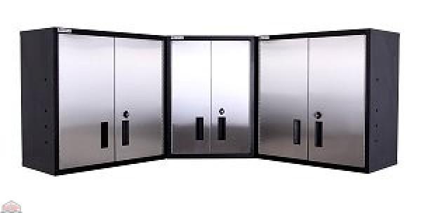 Wall Corner Storage Cabinet 304 Stainless Steel Garage Organization Experts
