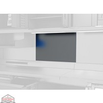 Stainless steel back panel MW-1250-ZZ